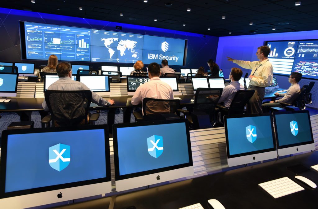 IBM Cyber Security X-Force Command Center Cambridge, MA (John Mottern/Feature Photo Service for IBM)